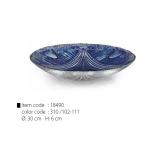 item code : 18490 color code : 310 /102-111 Ø: 30 cm H: 6 cm